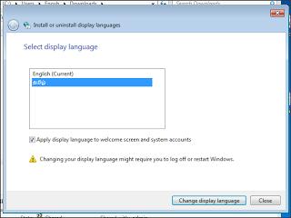 change the display language